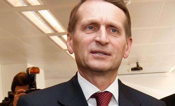 Naryshkin antoi suorasanaisen haastattelun sanomalehti Izvestijalle.
