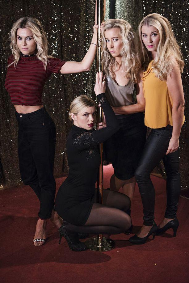 Uusi Tuhmikset-kausi tuo ruutuun myös tähtistrippari-Tamaran ja erotiikka-alalla työskentelevän Heksan, joka suostuttelee Evan tuuraajaksi strippiklubilleen.