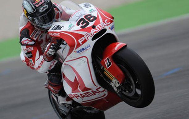 Mika Kallio oli Ducati-kuljettajista toiseksi paras Casey Stonerin jälkeen.