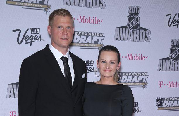 Mikko ja Helena Koivu avioituivat vuonna 2014.