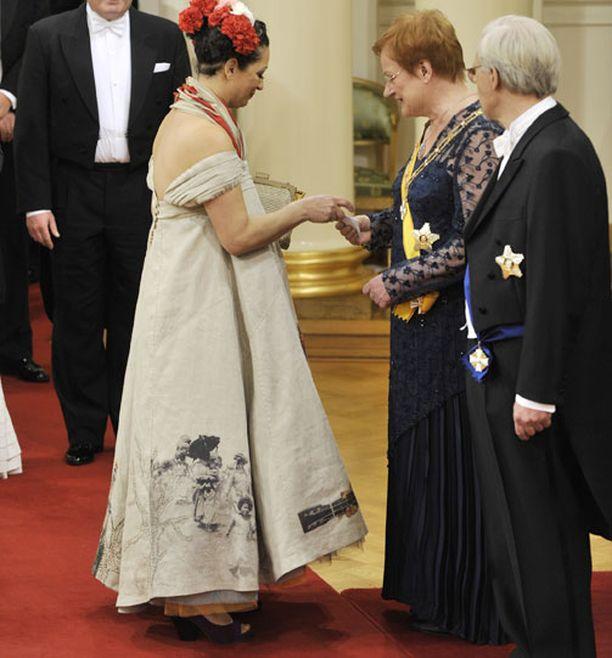 Presidentti Tarja Halonen sai postia.