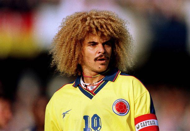 Carlos Valderrama oli Kolumbian kapteeni kolmissa MM-kisoissa.