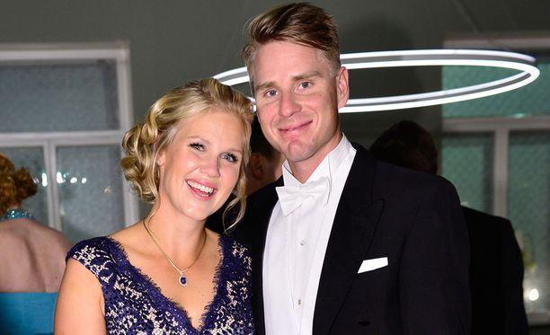 Minea Blomqvist-Kakko ja Roope Kakko olivat Linnan juhlissa vuonna 2015.