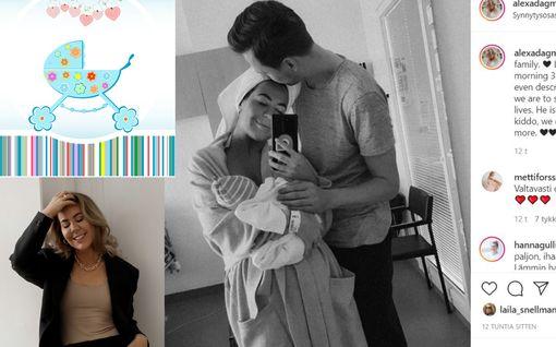 """Bloggaaja Alexa Dagmarin vauva syntyi: """"Meidän ensimmäinen valokuvamme perheenä"""""""