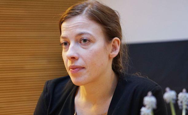 Vasemmistoliiton puheenjohtaja Li Andersson.