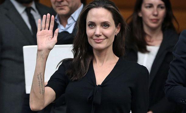 Angelina Jolie aikoo taistella lastensa huoltajuudesta. Kuva viime keväältä.