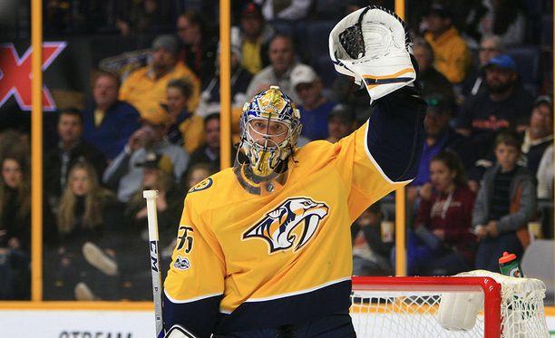 Pekka Rinne oli Nashvillen voiton takuumies.