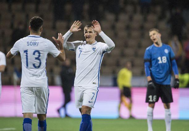 Pyry Soiri ja Robin Lod pelaavat Suomen laitureina todennäköisesti Ateenassakin.