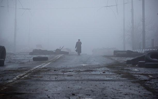 Donetskissa oli sunnuntaina hiljaista ja sumuista.