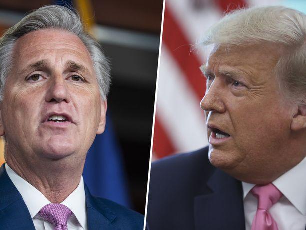 Kevin McCarthy ja Donald Trump raivosivat toisilleen Yhdysvaltain kongressin hyökkäyksen aikana.