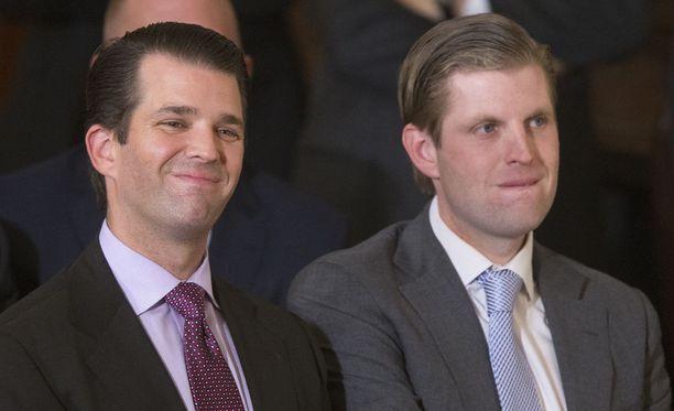 Veljekset Donald Trump Jr ja Eric Trump ottivat isänsä liiketoimet hoidettavakseen, kun Donald Trumpista tuli Yhdysvaltain presidentti.