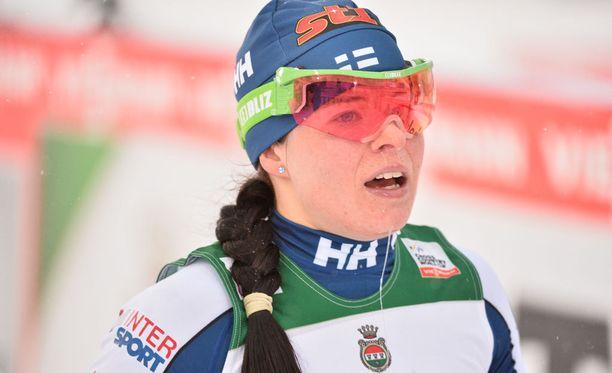 Krista Pärmäkoski jätettiin erässään kolmanneksi.