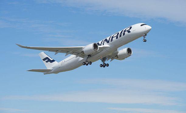 Finnairin A350-koneeseen iski salama Helsingistä Bangkokiin matkanneella lennolla.