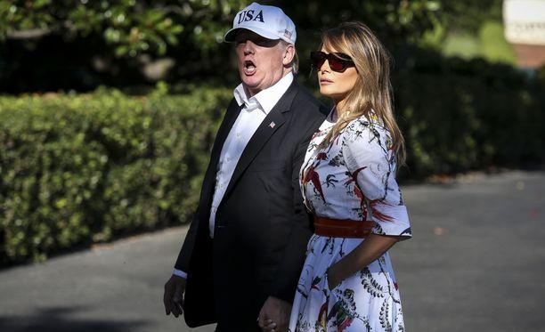 Donald Trumpin mukana Helsinkiin saapuu myös hänen vaimonsa Melania Trump.