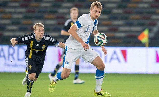 Tim Väyrynen oli kaatamassa Ruotsia viime viikolla Abu Dhabissa.