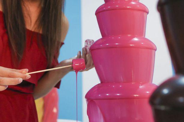 Museossa pääsee myös maistelemaan erilaisia herkkuja, kuten vaikkapa makeaan kastikkeeseen dipattuja vaahtokarkkeja.
