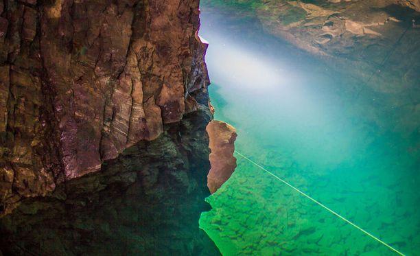 Tuna Hästbergin kaivos on haastava, mutta suosittu sukelluspaikka.