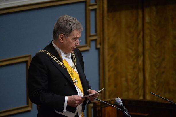 Tasavallan presidentti Sauli Niinistö piti eduskunnassa jatkokautensa virkaanastujaispuheen.