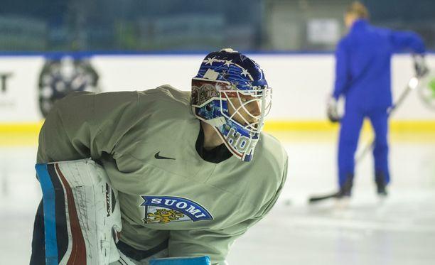 Joonas Korpisalo on Leijonien ykkösvahti MM-jäällä.