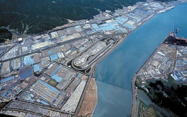 Hyundain Ulsanin autotehdas on maailman suurin autotehdas.