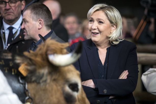 Marine Le Pen työskenteli EU-parlamentissa vuosina 2004-2017.