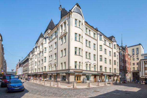 Varakkaan Yrjönkatu 25:n vuokratuotot ovat 350.000 euroa, ja vastike on nolla euroa.