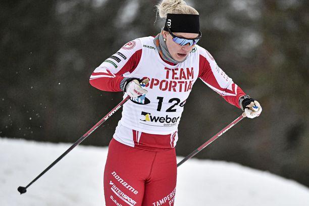 Tampereen Pyrinnön Amanda Saari oli kahdentoista parhaan joukossa lauantaina Taivalkosken Suomen cupin perinteisen sprintissä.