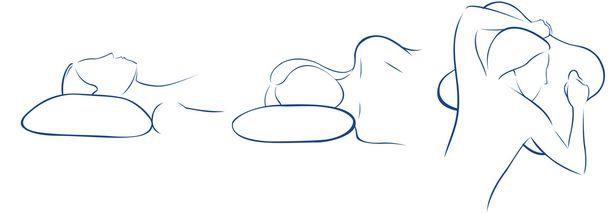 Ombracio-tyyny sopii kaikissa asennoissa nukkuvalle. Vatsamakuulla nukkujalle se on paras vaihtoehto.
