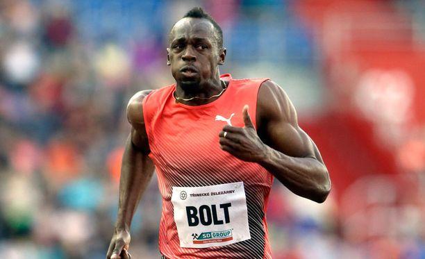 Usain Boltin olympiamatka on yhden kortin varassa.