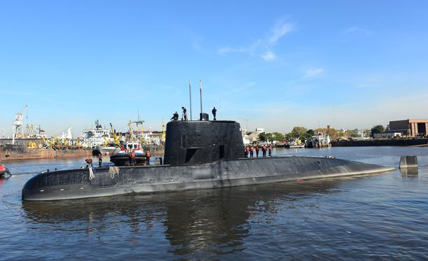 Sukellusvene San Juan katosi viime viikolla. Arkistokuva.