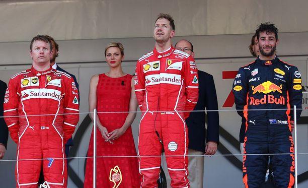 Sebastian Vettel nousi korkeimmalle korokkeelle Monacossa.