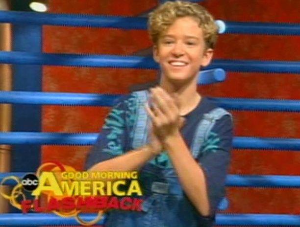 Justin Timberlakella oli 11-vuotiaana kunnon kiharat.