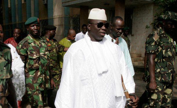Presidentti Yahya Jammeh palasi Gambiaan. Arkistokuva.