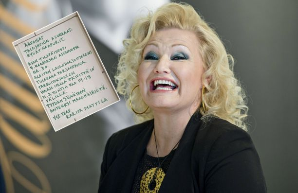 Karita Mattila ilmoitti laulutreeneistään.