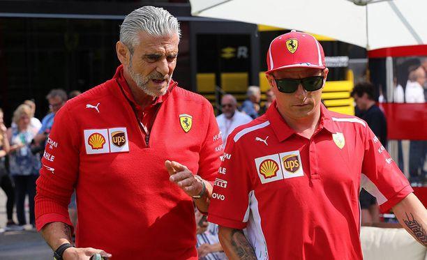 Tallipäällikkö Maurizio Arrivabene kiitti Kimi Räikköstä kuluneista vuosista.