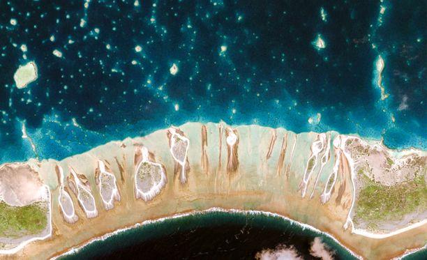 Rantaviiva Ranskan Polynesiassa.