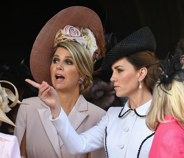 Herttuatar Catherinella näytti riittävän juttua kuningatar Maximan kanssa.
