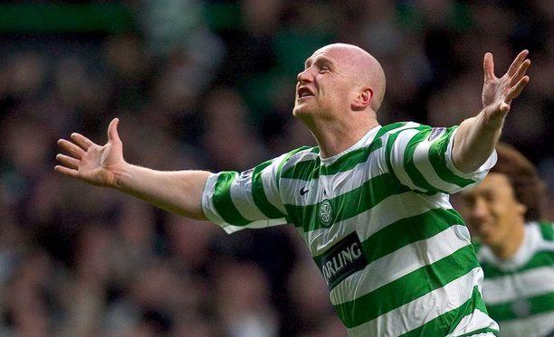 John Hartson tuuletti pitkään maaleja Celtic-paidassa.
