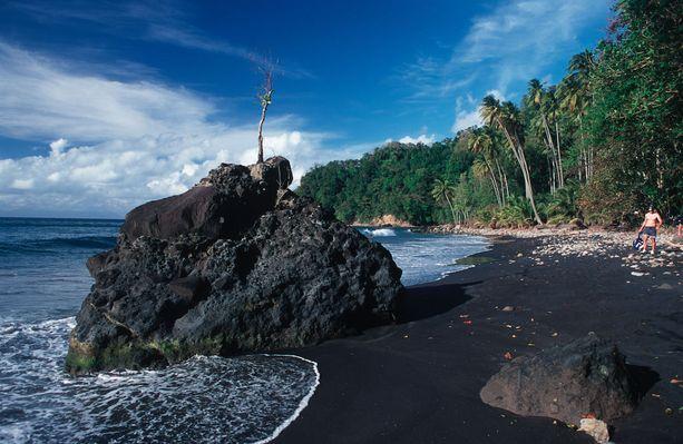 Anse Couleuvre, Martinique: Martiniquen saaren pohjoisrannalla on useampiakin mustia rantoja. Anse Couleuvre on niistä yksi.