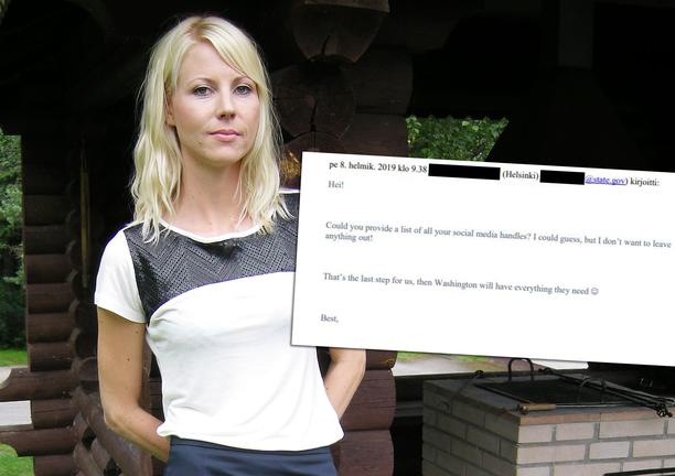 Yhdysvaltain suurlähetystö pyysi Jessikka Arolta sosiaalisen median tilien tunnuksia. Pian hänelle myönnetty palkinto peruttiin.