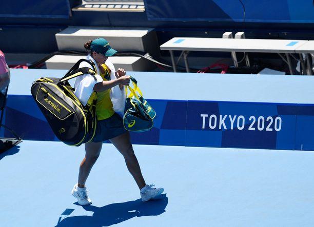 Ashleigh Barty ei pakkaa vielä laukkuaan, sillä hän on vielä mukana olympialaisten nelinpelissä.