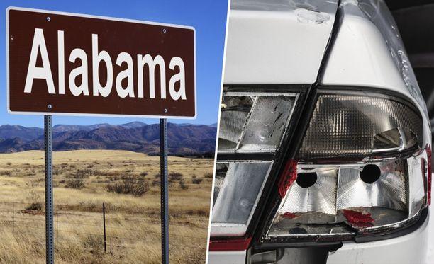 Alabamassa poliisit pysäyttivät auton muun muassa puuttuvan takavalon vuoksi. Kuvituskuva.
