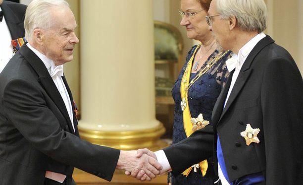 Tuomas Gerdt on viime vuosina kätellyt presidentin ensimmäisenä. Kuva viime vuodelta.