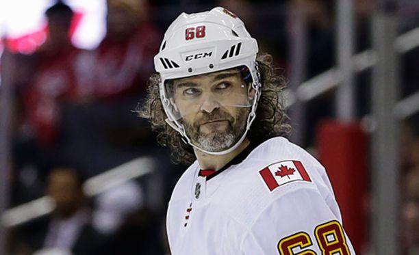 Jaromír Jágr ei mahdu tällä hetkellä Calgaryn kokoonpanoon.