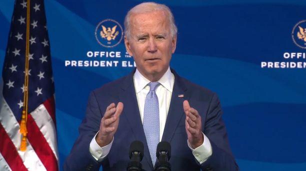 Biden sanoi kertovansa koko hallituksensa kokoonpanon virkaanastujaisten jälkeen.