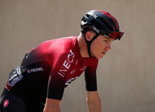Chris Froome on voittanut urallaan kaikki kolme suurinta ympäriajoa. Tour de France -voittoja on kertynyt huimat neljä.