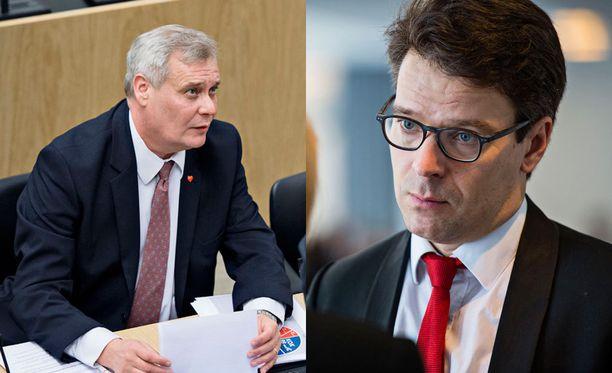 Antti Rinne (sd) ja Ville Niinistö (vihr).