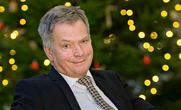 Sauli Niinistö toivottaa hyvää joulua Facebook-sivullaan. Arkistokuva.