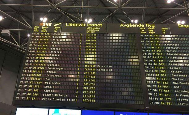 Todennäköisesti lentoja Turkkiin ja sieltä Suomeen perutaan.