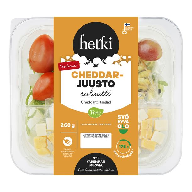 Tämä salaatti kuuluu juuston ystävän herkkuhetkiin. Nauti missä ja milloin vain.
